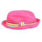 Fashion Straw Hat Sunbonnet for Women - Pink