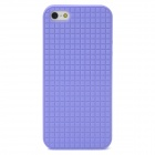 Checked Style Protective TPU Back Case for Iphone 5 - Purple