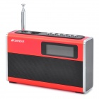 "SanSui D20 Portable 1.6"" LED Mini Speaker w/ FM Radio / TF / U Disk Slot - Red"