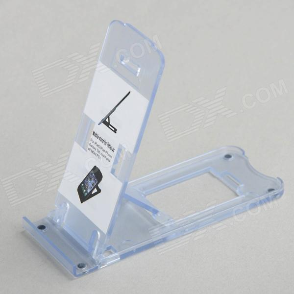 Plastic Desktop Stand Holder for Cell Phones - Blue