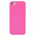 Checked Style Protective TPU Back Case for Iphone 5 - Deep Pink