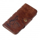 FUERDANNI 77926-3# Simplicity Cowhide Wallet w/ Card Slot - Light Brown