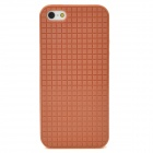 Checked Style Protective TPU Back Case for Iphone 5 - Brown