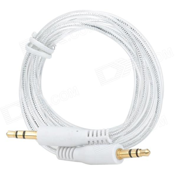 Gold-plating 3.5mm Male to Male Stereo Audio Cable - Silver + White (1m) патчкабель sz audio cable 30 cm white