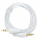 Gold-plating 3.5mm Male to Male Stereo Audio Cable - Silver + White (1m)
