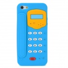 Telephone Style Protective Silicone Back Case for Iphone 5 - Blue + Yellow + White