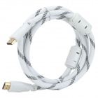 Gold-plating 1080P HDMI V1.4 Male to Male Shielded Cable - White + Black (146cm)