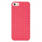 Woven Style Protective TPU Back Case for Iphone 5 - Deep Pink