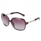 KuSha 3119-C252 UV400 Protection PC + Zinc Alloy Frame Resin Lens Sunglasses for Women - Purple