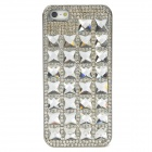 Stylish Protective Crystal+ Plastic Back Case for Iphone 5 - Silver