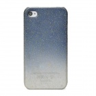 Water Drop Style Protective Plastic Back Case for Iphone 4 / 4S - Grey Blue