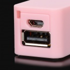 Portable Mini External 2200mAh Power Battery Charger w/ Scent for Iphone / Cell Phone / MP3 - Pink