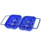 6-Compartment ABS Collision / Broken Protection Egg Case for Outdoor Mountaineering - Blue