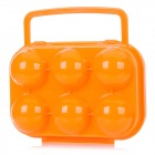 6-Compartment ABS Collision / Broken Protection Egg Case for Outdoor Mountaineering - Orange