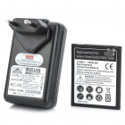 Travel AC Power Battery Charger + Battery for Samsung Galaxy Grand i9080 / Duos i9082 (US / EU Plug)