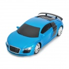 01.24 2-CH Wireless Remote Control R / C Racing Car - Blau (3 x AA)
