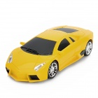 1:24 2-CH Wireless Remote Control R/C Racing Car - Yellow (3 x AA)