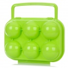 Protective ABS 6-Section Egg Storage Case - Green