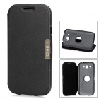 360 Degree Rotation Protective PU Leather + Plastic Case for Samsung Galaxy Grand Duos i9082 - Black