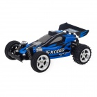 545A-10 USB Rechargeable 3-CH R/C IR Control Racing Car - Black + Blue + Silver (27MHz)