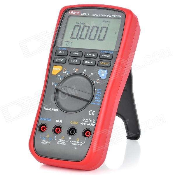 "UNI-T UT533 3.1"" LCD Insulation Resistance Multimeter - Red + Grey (6 x AA)"