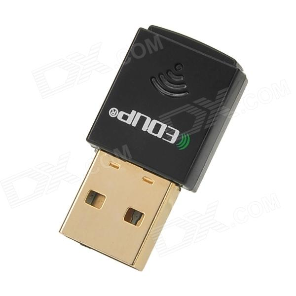 EDUP EP-N1557 Mini 2.4GHz 802.11b/g/n 300Mbps USB 2.0 Wi-Fi WLAN Network Adapter - Black + Golden