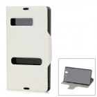 Protective PU Leather Flip Open Case for Sony L36H Xperia Z C6603 / C660x / L36i - White + Black
