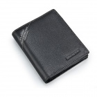 KESACZAR KS-3697A Fashion Cowhide Folding Men Wallet - Black
