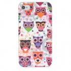 Lofter Cartoon Owl Style Protective PC Back Case for Iphone 4 / 4S - Multicolor