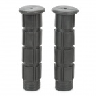 187203 Comfortable Soft Rubber Non-Slip Handlebar Grip Covers for Bicycle - Black (22.5mm / Pair)
