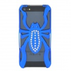 Cool Spider Style Protective Crystal+ Plastic Back Case Cover for Iphone 5 - Blue
