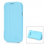 NILLKIN Protective PU Leather & Cover Plastic Hard Back Case for Samsung I9082 - Light Blue