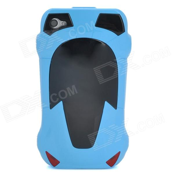 Cool 3D Car Style Protective Plastic Back Case for Iphone 4 - Blue water drops style protective plastic back case for iphone 4 blue