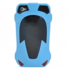 Cool 3D Car Style Protective Plastic Back Case for Iphone 4 - Blue