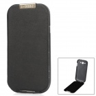 Detachable Design Protective PU Leather Case for Samsung Galaxy Grand Duos i9082 - Black + White