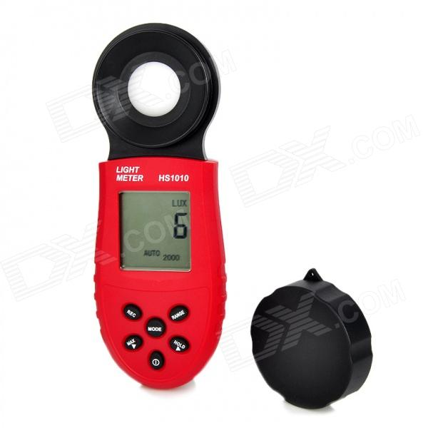 HS1010 1.8 LCD Digital Illuminance / Light Meter - Red + Black (1lux~200000lux / 2 x AAA) acosun md916 lcd display data hold digital paper moisture meter