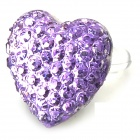 Love Heart Style Anti-Dust Plug for Iphone / Samsung / Xiaomi - Purple (3.5MM Plug)