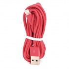 3P8 USB 2.0 Male to 8-Pin Lightning Charging / Data Round Cable - Red (3m)