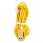 3P8 USB 2.0 Male to 8-Pin Lightning Charging / Data Cable - Yellow (3m)