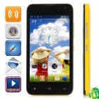 "LOGO Z105 Android 4.1 Dual Core GSM Phone w / 4,4 ""Kapazitive Bildschirm, Wi-Fi, Quad-Band - Gelb"