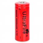 "UltraFire 26650 ""5000mAh"" 3.7V Rechargeable Li-ion Battery - Red"