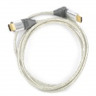 HDMI V1.4 Male to Male Cable w/ 180 Degree Connector for PS3 / Xbox360 - Grey + Silver White (180cm)