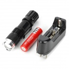 500~650lm 5-Mode White Zooming Flashlight - Black (1 x 18650)