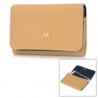 Multi-Purpose PU Leather Wallet Protective Case for Samsung Galaxy Note 2 - Light Brown
