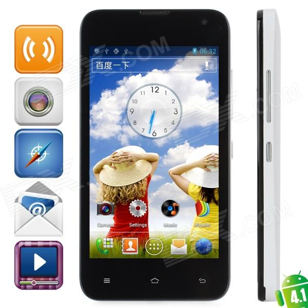 "LOGO Z105 Android 4.1 Dual Core GSM Bar Phone w/ 4.4"" Capacitive Screen, Wi-Fi, Quad-Band - White"