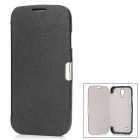 Protective PU + PC Flip-Open Case for Samsung Galaxy S4 i9500 - Black
