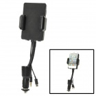 Car Cigarette Lighter FM Transmitter w/ Remote Controller for iPhone 5 - Black