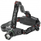 6533 Cree XR-E Q5 160lm 3-Mode White Zooming Flashlight - Black (1 x 18650 / 3 x AAA)