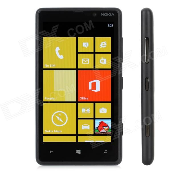 Nokia 820 Windows Phone 8 WCDMA Bar Phone w/ 4.3 Capacitive Screen, Wi-Fi and GPS - Black nokia n8 symbian^3 wcdma smartphone w 3 5 capacitive gps 12mp camera and wi fi grey 16gb