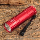 LW-326J 9 x LED 20~50lm White Flashlight w/ Strap - Red (3 x AAA)
